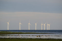 Wind turbines at the coast Royalty Free Stock Photography