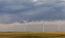 Wind turbines in Colorado prairie Stock Photos