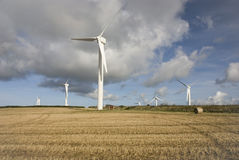 Wind turbines, Cornwall Stock Images