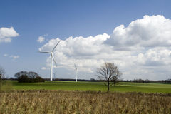 Wind turbines in countryside Royalty Free Stock Photography