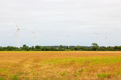 Wind turbines in the countryside Royalty Free Stock Photos