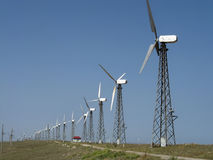 Wind turbines in the Crimea Royalty Free Stock Photos
