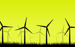 The wind turbines Royalty Free Stock Images