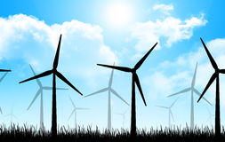 The wind turbines Royalty Free Stock Photo