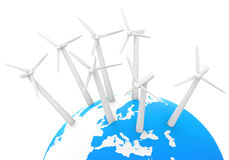 The wind turbines Royalty Free Stock Photos