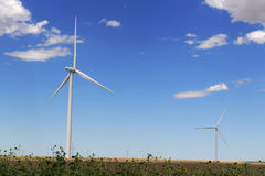 Wind Turbines during Daytime Stock Photos