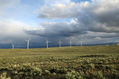 Wind Turbines in the Desert Royalty Free Stock Photo