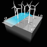 Wind turbines diagram Royalty Free Stock Photography