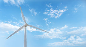 Wind turbines. Wind-driven generator Stock Images