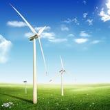 Wind Turbines (Eco concept) Royalty Free Stock Photos