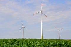 Wind turbines, eco energy Royalty Free Stock Images