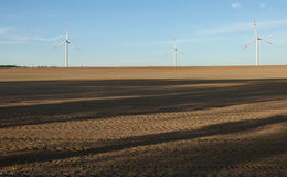 Wind turbines, Eco power Stock Images