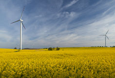 Wind turbines, Eco power Royalty Free Stock Photography
