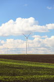 Wind turbines eco renewable energy production Stock Photography