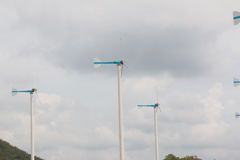 Wind turbines. For electricity in thailand Stock Image
