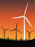 Wind turbines energy Royalty Free Stock Image