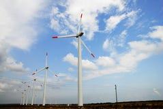 Wind turbines farm Royalty Free Stock Photo