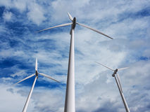 Wind turbines farm 2 Royalty Free Stock Photography