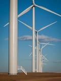 Wind turbines farm Stock Image