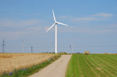 Wind turbines farm. Alternative energy source Royalty Free Stock Photography