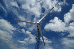 Wind turbines farm - alternative energy source Stock Image