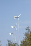 Wind turbines on a farm. In countryside Thailand Stock Photo