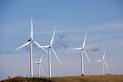 Wind generators farm Royalty Free Stock Image