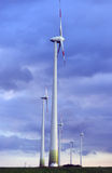 Wind turbines farm Royalty Free Stock Photos