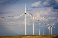 Wind Turbines on a farm Royalty Free Stock Images