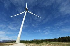 Wind turbines farm in spain Royalty Free Stock Photography