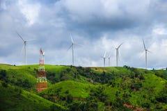 Wind-turbines farm Stock Photography