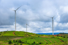 Wind-turbines farm Royalty Free Stock Photos