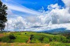 Wind-turbines farm Stock Image