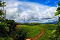 Wind-turbines farm Royalty Free Stock Photography