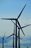 Wind turbines farm. Windmill Royalty Free Stock Photos