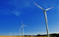 Wind turbines farm. Windmill Stock Photography