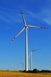 Wind turbines farm. Windmill Royalty Free Stock Photo