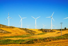 Wind Turbines at farmland Royalty Free Stock Image