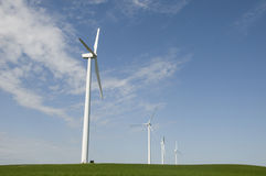 Wind Turbines on field Stock Image