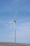 Wind turbines in field in Alberta Royalty Free Stock Photography