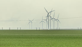 Wind Turbines in the Field Royalty Free Stock Photos