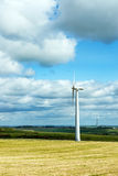 Wind turbines in a field Stock Images