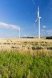 Wind Turbines And Fields Stock Photography