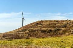 Wind Turbines in the fields Stock Photo