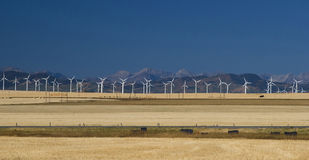 Wind Turbines in the Foothills Royalty Free Stock Photos