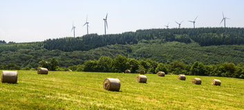 Wind turbines in France Royalty Free Stock Images