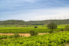 Wind turbines in France Stock Image