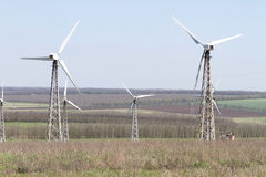 Wind turbines generating electicity Royalty Free Stock Photos