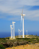 Wind turbines generating electricity royalty free stock photo