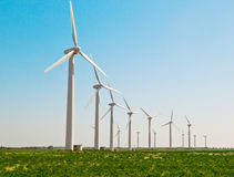Wind turbines generating electricity Royalty Free Stock Image